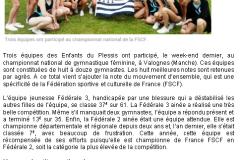 Gym ch. France - Presse LT