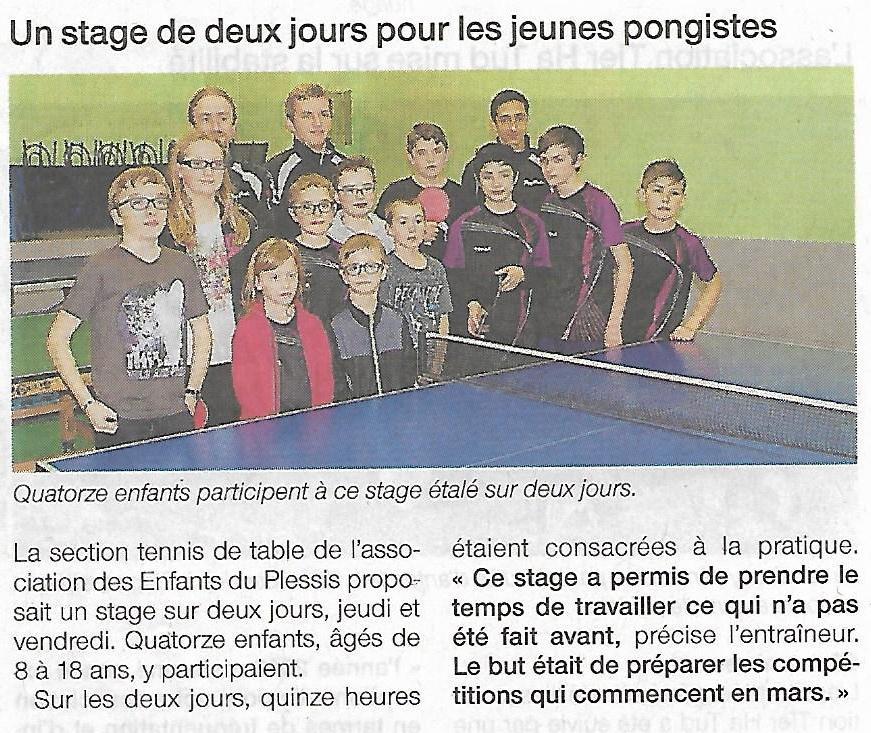 17 02 23 of stage tt les enfants du plessis - Stage tennis de table hennebont ...